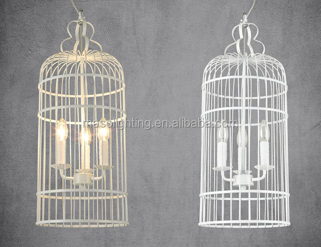Maso Energy Saving Light Source and European Type Lighting Fixture Pendant Lamp MS-P6042 Iron Cage Lamp
