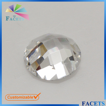 FACETS GEMS Wholesale White Gemstone Round Flat Back Cubic Zirconia