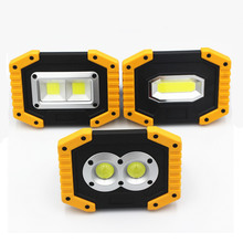 LED COB Floodlight 20W Portable Spotlight 18650 Rechargeable Battery Outdoor Working Light for Camping Hunting 3-Mode Flashlight