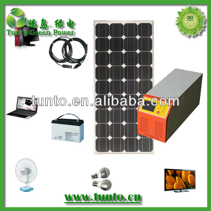 Wholesale 300w home solar system+80w solar panel+80Ah battery