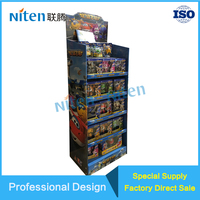 Toy Products Display Stands Customized Four Shelves Display Rack