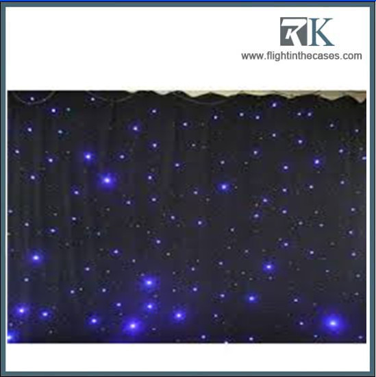 LED Light Effects Large Star Curtain 4m*6m Star Colth Stage Drapes Blue-White Color with Lighting Controller LED Vision Curtain