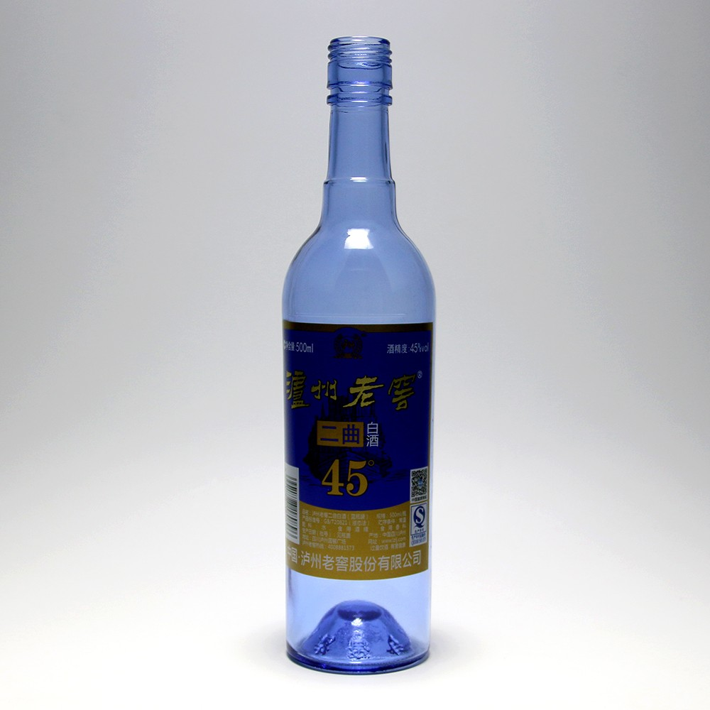 wine /whisky / liquor /vodka used blue glass bottle 24 oz