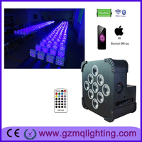 new pro led stage lighting wedding battery par can wireless &IR control 9*18W RGBWA+UV led backdrop