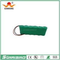 China OEM 7.2v 2/3aa 400mah nimh rechargeable battery pack/rechargeable nimh battery pack aa 12v for emergency light battery