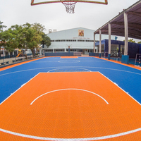 Basketball court polypropylene interlocking floor drain system cover
