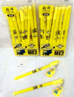 TF-01150901028 Despicable me cartoon dimensional gel pens jelly pens with ornaments stationery