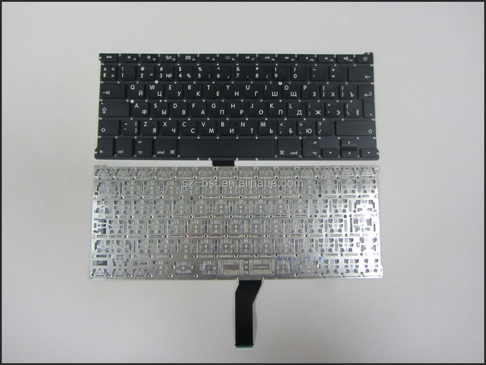 "Brand new keyboard for Apple MacBook Air 13"" A1369 A1466 black big enter key Russian RU layout Laptop Keyboard"