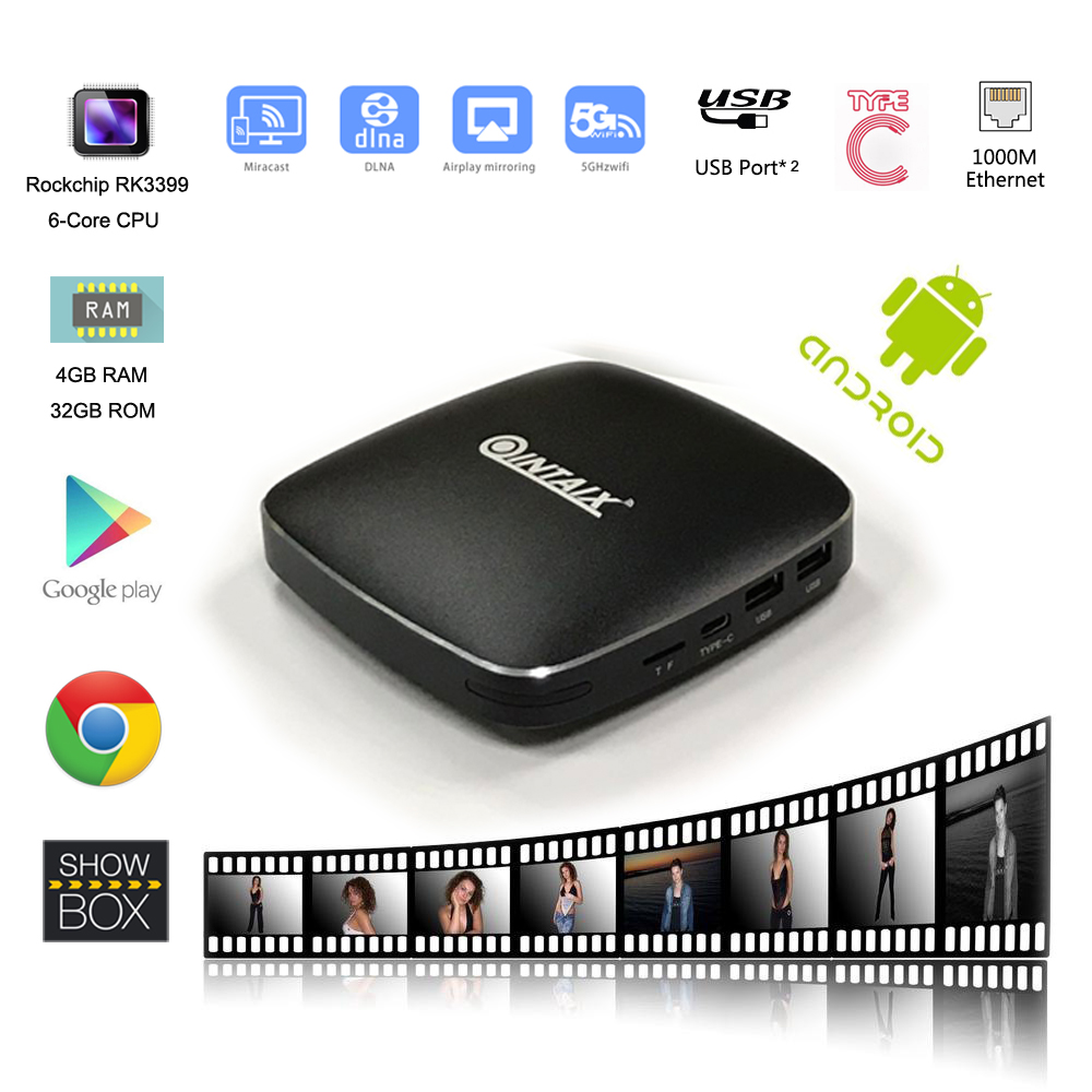 RK3399 Smart tv box 4K Full HD Q39 Android6.0 Set top box 4GB RAM 32GB ROM Google android set top box