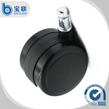 Supplier 2.5 Inch Black Rigid Plastic Hospital Bed Chair Wheel Caster