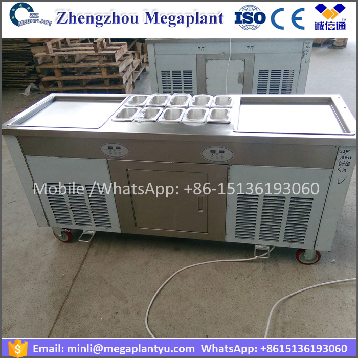 Automatic double pan form of ice cream roll making machine price
