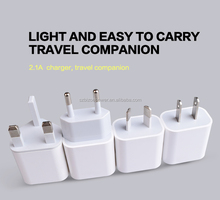 Factory Outlet Wall Charger Folding Plug Travel Charger 5V 2.4A Dual Port USB Wall Charger