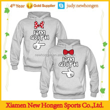 custom heavy hoodies / sweatshirt couple with own logo