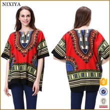 100% Cotton Ladies Custom Dashiki Shirt Wholesale China