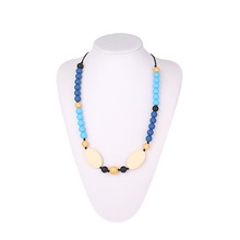Baby Teething Necklace Wholesale Factory Manufacturer Food Grade Chew Bead Silicone Jewelry Baby Teething Necklace