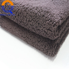 The popular cheapest high quality 100%polyester heat insulation home textile fake sherpa fleece fabric