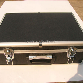 2013 aluminum tool case ,black instrument\equipment \storage box with handle and lock .