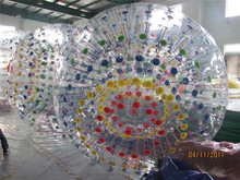 Beautiful color inside inflatable body zorbing ball for sale