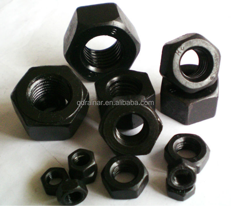 oxgen black 2H hex nut astm a194