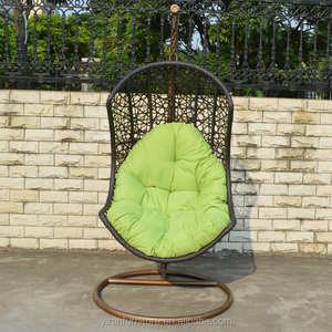 Wholesale Modern Leisure Relax Outdoor Cheap Balcony Terrace Furniture Patio Swing Rattan Wicker Hanging Egg Chair