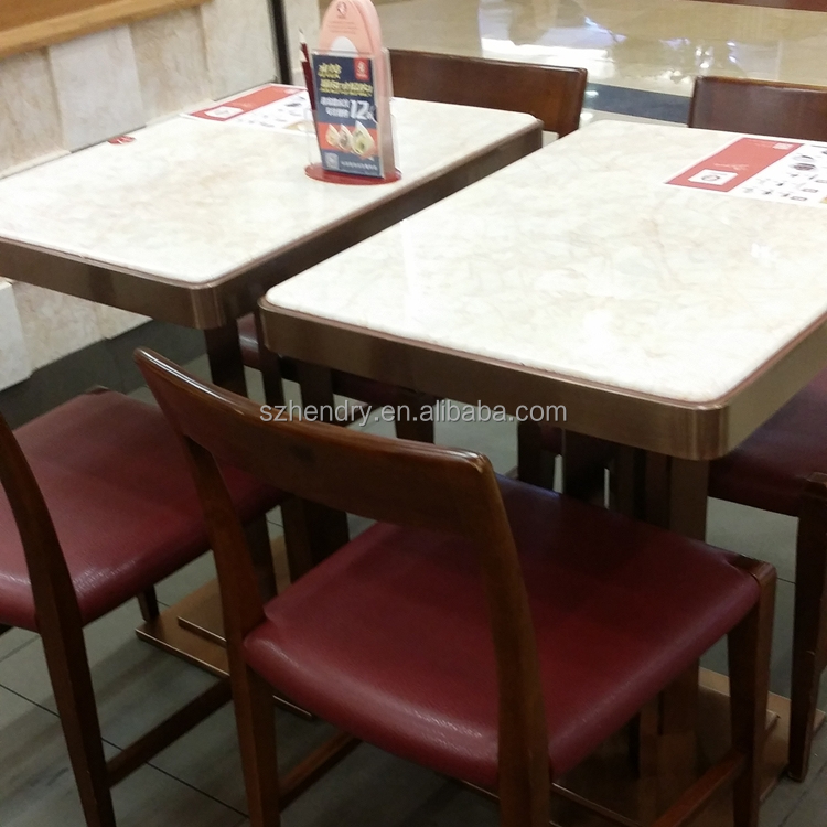 2015 high quality two seater square marble table and chair set