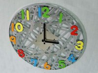 Modern Design Colorful Decorative Promotional Chrome Wall Clock