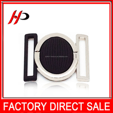 Factory wholesale silver plate 40mm black paint metal belt buckle for women down jacket and Ladies jacket