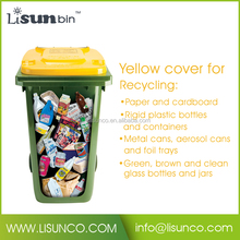 360L 2-Wheeled Standing Recycling Waste Trash Bins