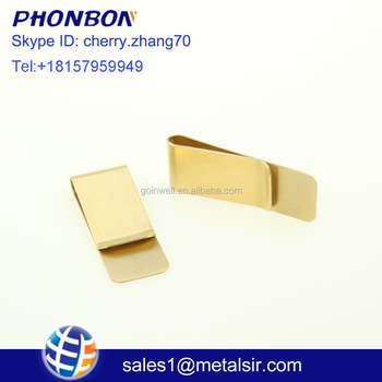 factory design alibaba com debossed embossed custom logo die cast business style metal pen clip money clip