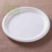 10 inch sugarcane biodegradable unbleached party paper plates