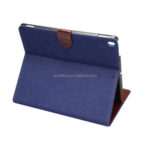 Jeans Wallet Leather Case For iPad Pro 10.5, inside with Card Slots