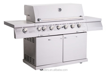 CB6-SBG001-B Full stainless steel gas grill with side burner and infrared back burner (B type)