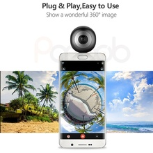 720 degree dual lens mobile phone attached full hd 360 panoramic insta VR camera