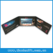 "Hardcover 7"" lcd video screen in brochure card, video screen in printed card"