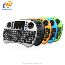 CE FCC RoHS I8+ Spanish Japanese Mini Wireless Gaming Mouse And Auto Sleep Illuminated Qwerty Keyboard
