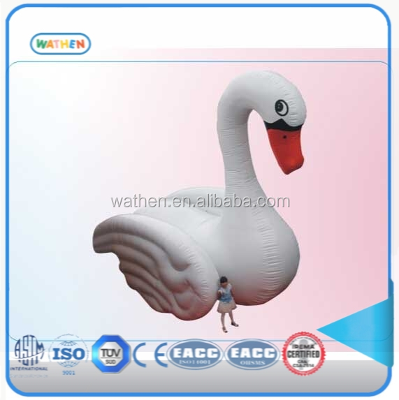 2016 Inflatable promotion Product and summer water floats PVC inflatable swan boat for water play and exhibition