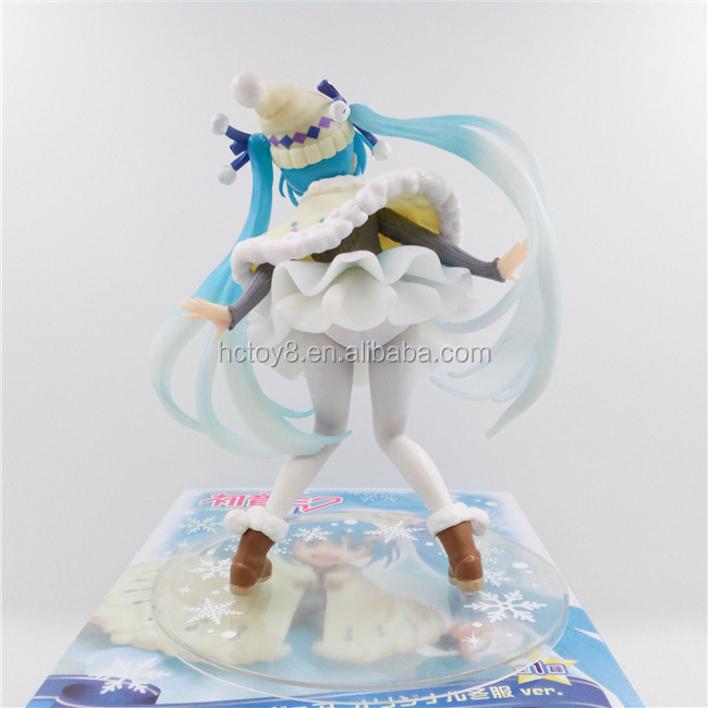 Gzltf Wholesale 16cm Yuki Miku Action Figure Winter Wear Version Hatsune Miku Snowsuit Anime Model Figures PVC Colloection