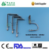 High Quality Reusable Stainless Steel Medical equipment Surgical operation Anesthetic Mouth Gag (with fiber)