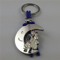 customized metal girl and boy pair of love make cute keychains