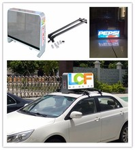 High brightness outdoor IP65 double wireless 3G 4G wifi taxi led top light display with high quality