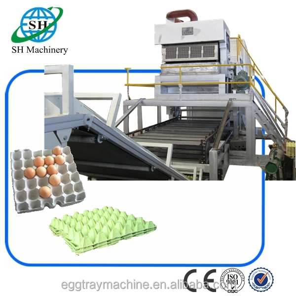 Egg Tray Production Line / Waste paper recycling machine making egg tray production Line