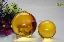Excellent Glass Ball yellow Crystal Ball for table Desktop Decoration