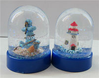 Plastic snow globes sea world snow globes