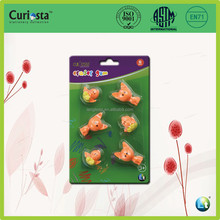 6pcs cute animal shape TPR eraser