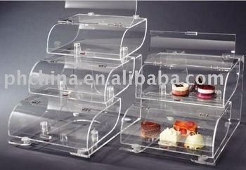 Triple Tiers Acrylic Pastry Display Case,Bakery display case,Acrylic Cake Display Case SCB-112