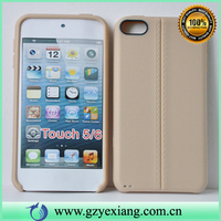 Factory Wholesale Soft Leather TPU Back Cover For Ipod Touch 6 Case
