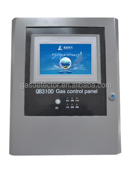 QB3100 Gas leak control panel with touch screen and 24 channels