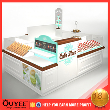 Best selling custom made wooden kiosk creative 3D ice cream kiosk design
