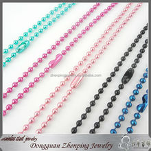 Dongguan Cheap Colorful Ball Chain