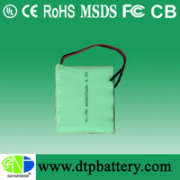 12v 3000mah nimh battery pack with 10pcs 1.2v 3000mah cells
